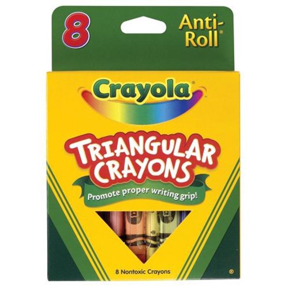 CRAYON CRAYOLA 8PCS PACK TRIANGULAR ANTI-ROLL