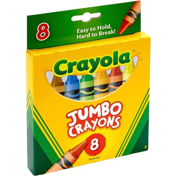 CRAYON CRAYOLA 8PCS PACK JUMBO EASY TO HOLD