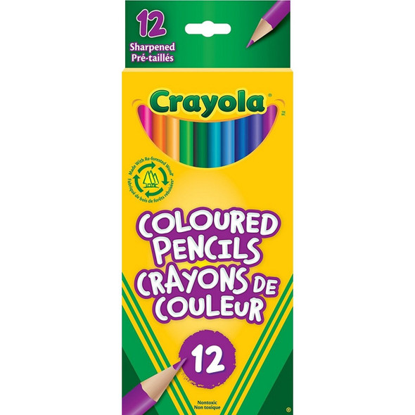 CRAYON CRAYOLA 12PCS PACK COLORED PENCILS