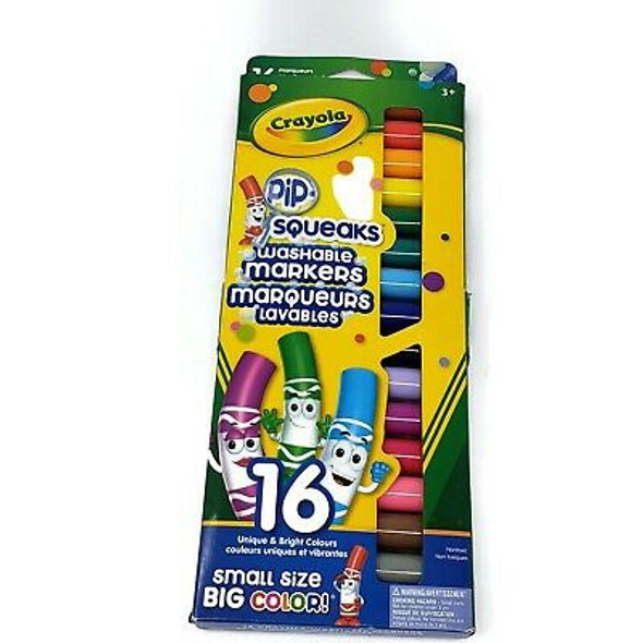MARKERS CRAYOLA PIP SQUEAKS WASHABLE 16 COLOR