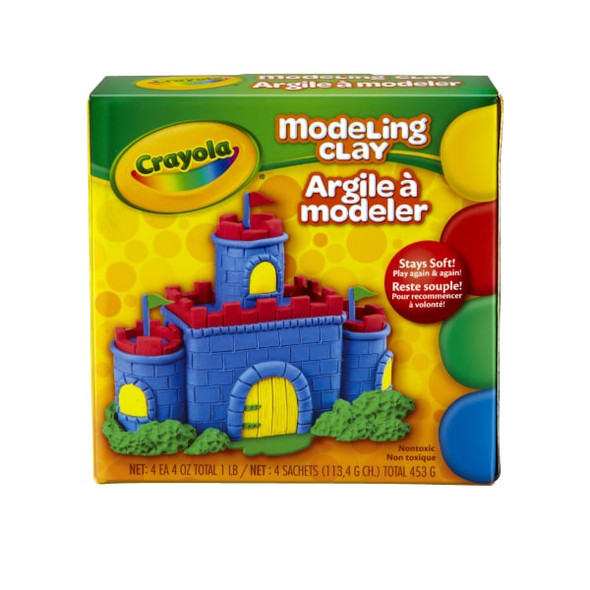 MODELING CLAY CRAYOLA 453G 4 COLORS