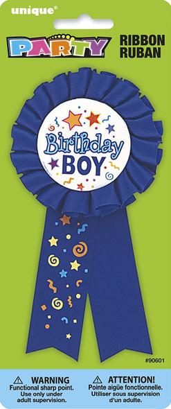 PARTY BIRTHDAY RIBBON BADGE UNIQUE