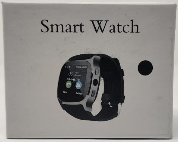 WATCH SMART SQUARE FACE LEATHER BAND SIDE BUTTON