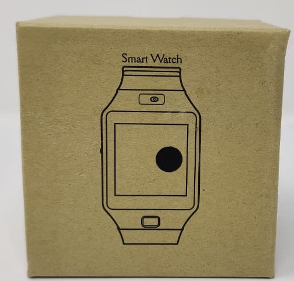 WATCH SMART SQUARE FACE LEATHER BAND CENTRE BUTTON