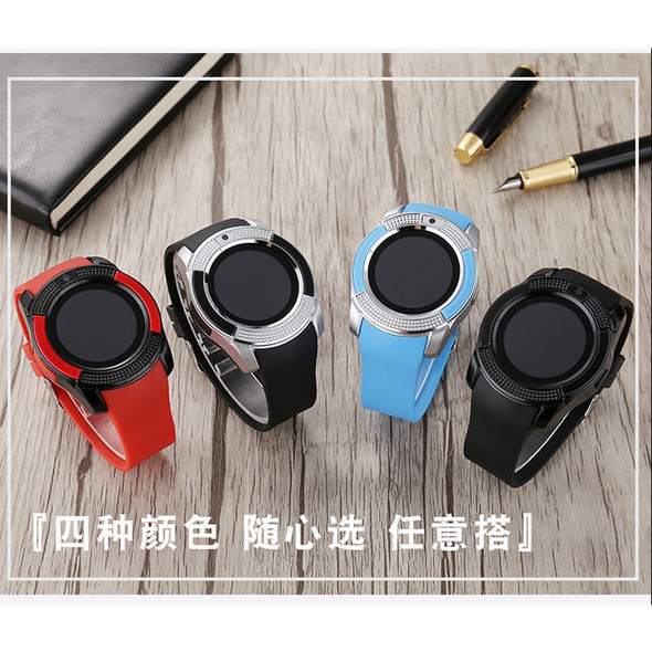 WATCH SMART ROUND FACE LEATHER BAND SIDE BUTTON