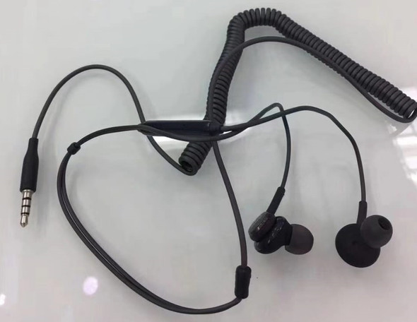 EARPHONES WITH MIC SPORTPACE HD STEREO SPIRAL CORD