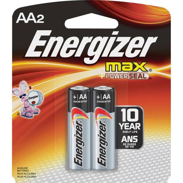 BATTERY ENERGIZER AA MAX ALKALINE 2PK E91BP-2 POWERSEAL AA2