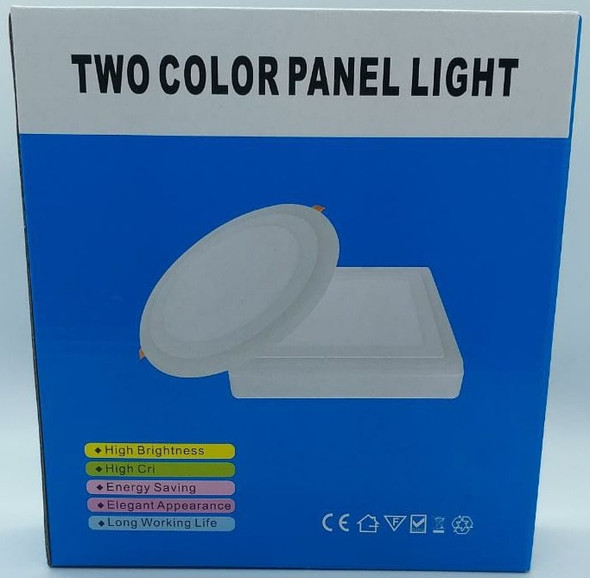 LED PANEL LIGHT 2 COLOR 6W+3W FITZGERALD BLUE BOX