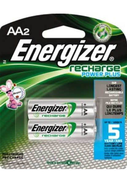 BATTERY ENERGIZER AA RECHARGE POWER PLUS 2PK 1.2V 2300mAH NIMH AA2