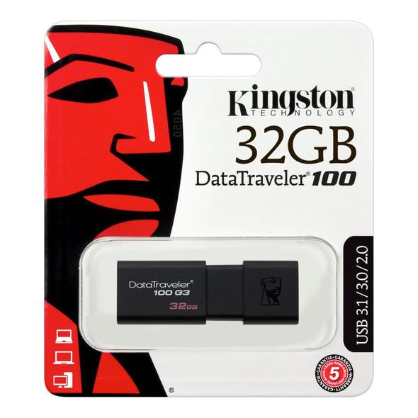 COMPUTER FLASH DRIVE 32GB KINGSTON DATA TRAVELER 100