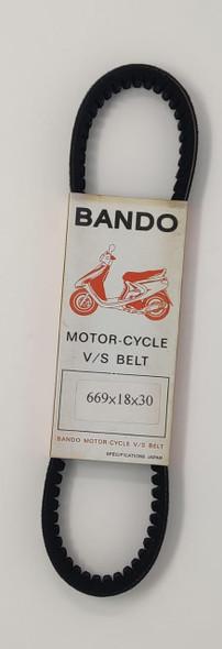 M/CYCLE DRIVE BELT JL50 669 X 18 X 30 BANDO V/S