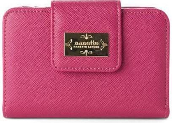 Purse Nanette Lepore French Leather Coin Mini Pouch Change Wallet for Women Pink