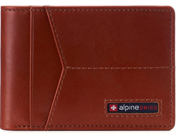 Wallet Men Alpine Swiss Delaney Slimfold RFID Safe For in a Gift Box