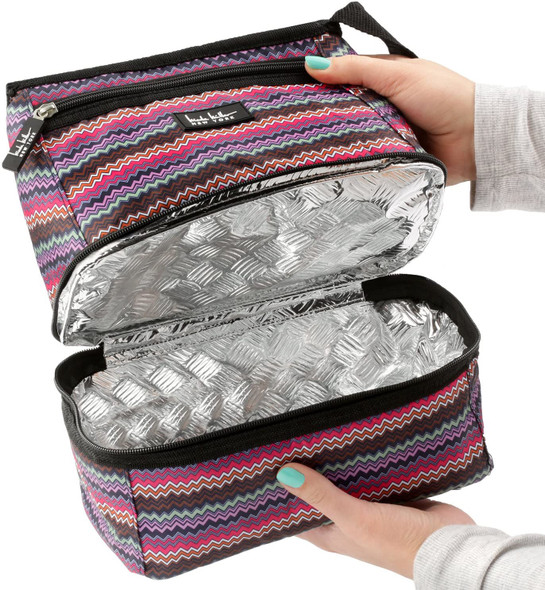 "Bag Insulated Lunch Cooler Nicole Miller New York Alyssa Pink 10"" Lunch Tote"
