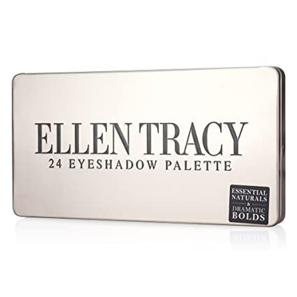 Makeup Ellen Tracy Eye Shadow Palette with Mirror Women 24 Varied Shades from Natural to Bold in Shimmery and Matte, Eyeshadow Shades