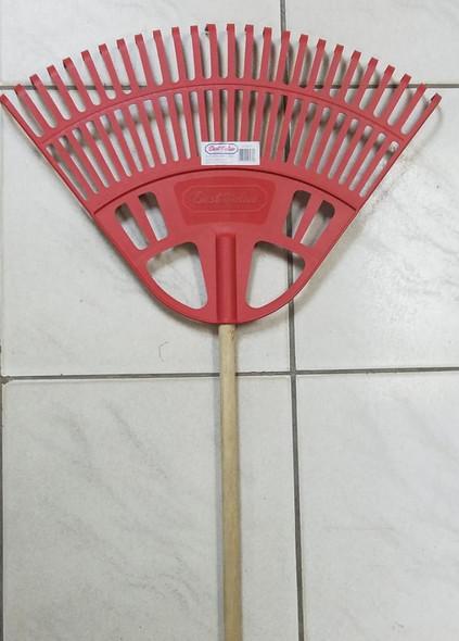 RAKE FAN PLASTIC 26T BEST VALUE W/HANDLE J13017 RED