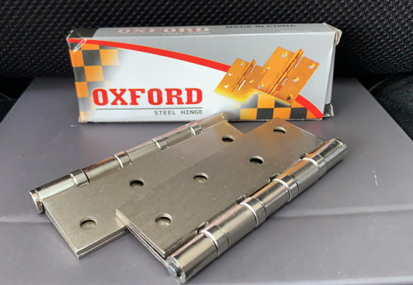 """BUTT HINGES 4"""" X 3"""" WITH SCREW OXFORD CHROME"""