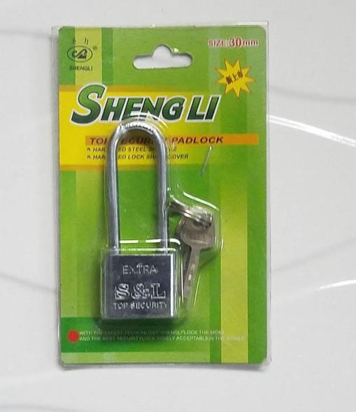 PADLOCK 30MM SHENGLI LONG SHACKLE EXTRA