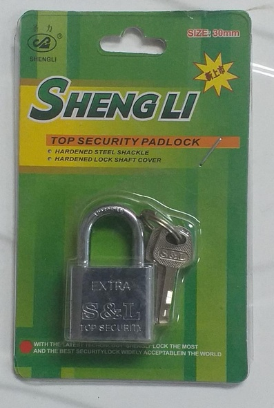 PADLOCK 30MM SHENGLI S/STEEL SHORT