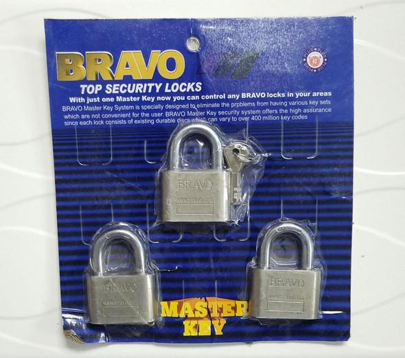 PADLOCK BRAVO 60MM 3 PCS SET