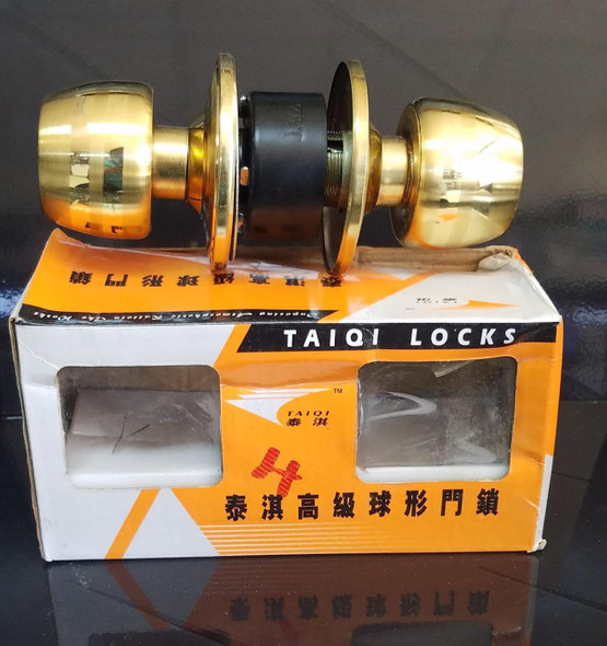 LOCK KNOB CYLINDRICAL TAIQI GOLD