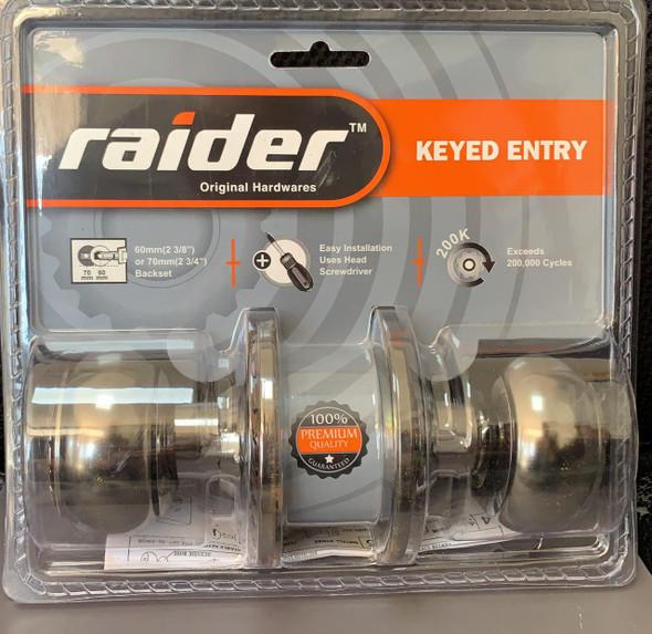 LOCK KNOB RAIDER AC KEYED #3501 AC/BN-ML-ET