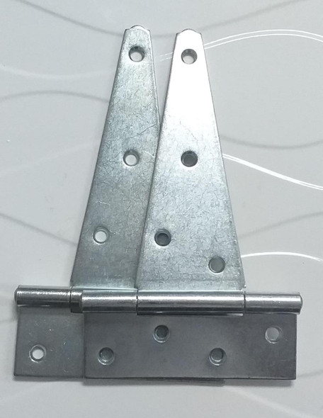 """TEE HINGES 8"""" CHROME HEAVY BROAD IMPORTED PAIR"""