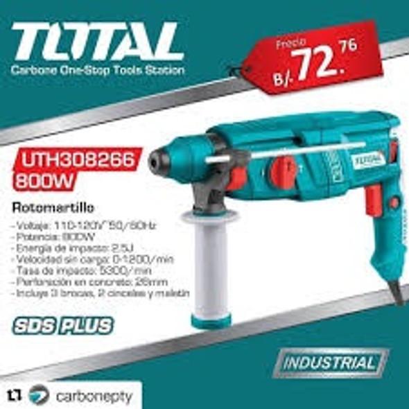 DRILL GUN TOTAL UTH308266 1050W HAMMER ROTARY