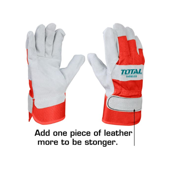 GLOVES WORKERS RED & GREY TOTAL TSP14101