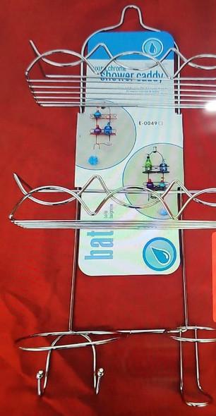 SHOWER CADDY 3 TEIR  LUXURY CHROME/BRONZE E-0049