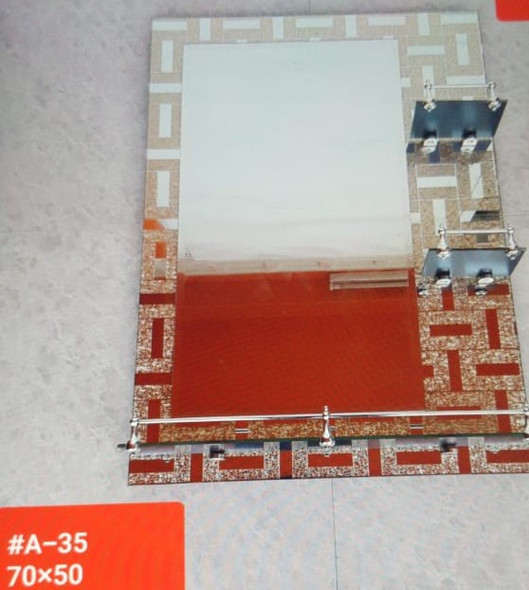 MIRROR DEC 70 CM X 50 CM W/SHELF #A-35