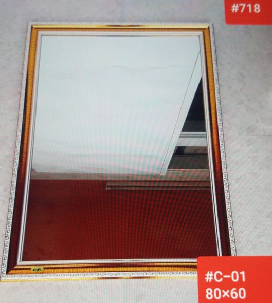 MIRROR W/FRAME 80 CM X 60 CM #C-01