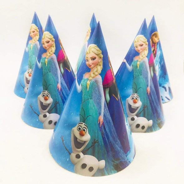PARTY HATS CHARACTERS 6PCS PACK PAPER CONE TYPE WITH STRING BI50