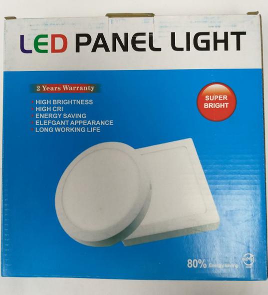 LIGHT LED PANEL 18W SQUARE WHITE SURFACE SUPER BRIGHT