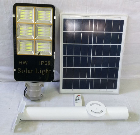 LIGHT LED POST 100W WITH SOLAR PLATE GREY TGD 6PANEL