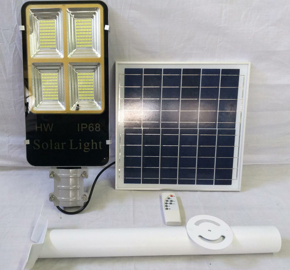 LIGHT LED POST 60W WITH SOLAR PLATE GREY TGD 4PANEL