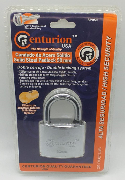 PADLOCK CENTURION 50MM CHROME SP050