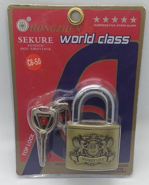 PADLOCK WORLD CLASS 50MM #C6-50 HONGZHEN