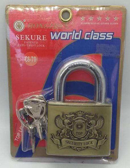 PADLOCK WORLD CLASS 70MM #C6-70 HONGZHEN