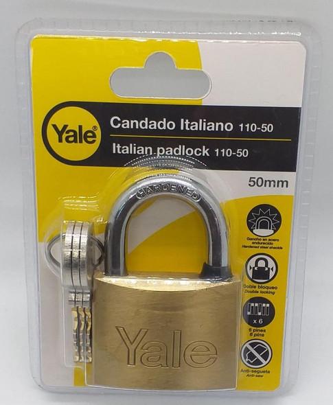 PADLOCK YALE 50MM 140-50/110-50 PLASTIC CASE