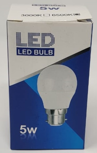 BULB LED 5W 85-265 ROHS ROUND ZY 6500K