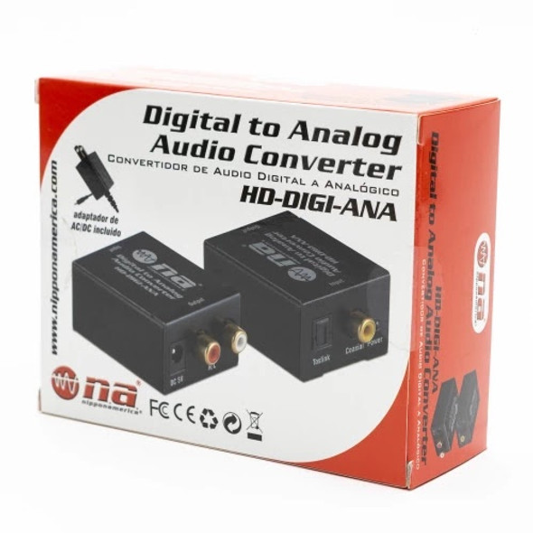 AUDIO CONVERTER OPTICAL TO RCA HD-DIGI-ANA NIPPON AMERICA