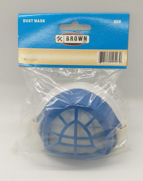 DUST MASK RESPIRATOR BROWN USA BLUE & WHITE BDM