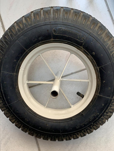 WHEEL BARROW WHEEL 4.00-8 6PR AIR WHITE SINGH SUNSET