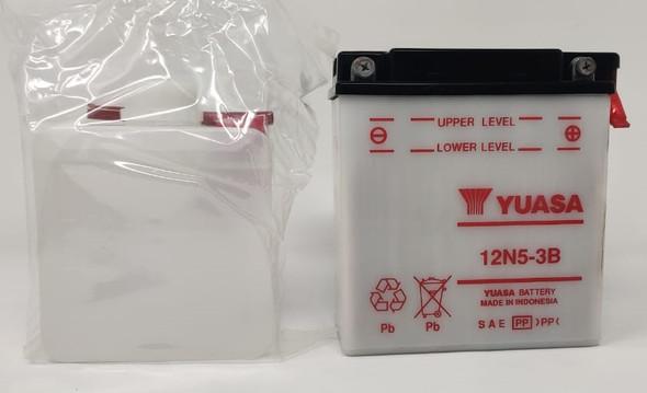 M/CYCLE BATTERY YUASA 12N5-3B 12V 5AH