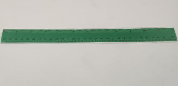 "STATIONERY RULER PLASTIC COLORED 12"" 30CM WITH TABLES SOLD EACH"