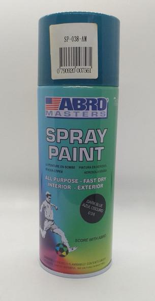 TIN SPRAY BLUE DARK ABRO #038