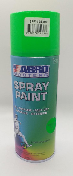 TIN SPRAY GREEN FLOURESCENT ABRO #104
