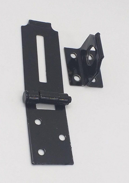 "HASP & STAPLE 2 1/2"" BLACK"
