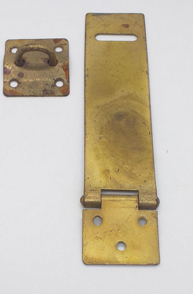 "HASP & STAPLE 5"" BRASS/BLACK SALE"